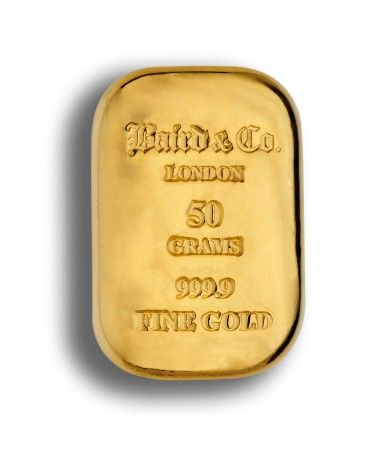 Baird gold cast bar 50 grams buy online