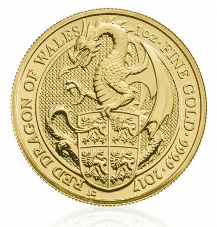 Buy Queen's Beasts 2017 | The Red Dragon | 1 oz Gold Bullion Coin