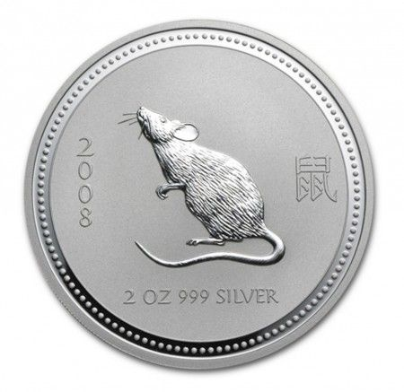 Buy 2oz Silver Perth Mint Year of Mouse 2008 Series (I) from Indigo