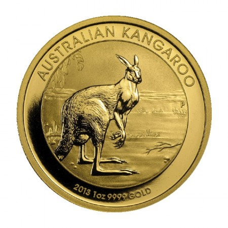 Australia 2013 kangaroo gold coin 1 ounce front view buy online