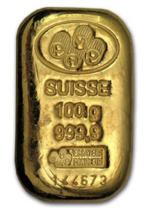 Buy PAMP Suisse gold 100 gram bar | Indigo