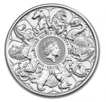 Silver 2021 Queen's Beasts 2 oz Silver Coin buy online with IPM Group