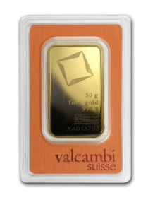 Buy Valcambi gold 50 gram bar | Indigo