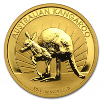 1oz gold 2011 kangaroo, buy online with Indigo