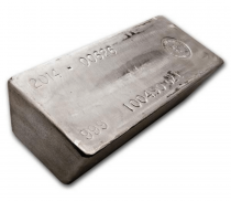Buy 1,000 oz silver cast bar online with Indigo