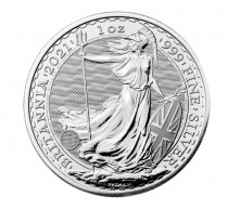 UK Britannia silver coin 1 ounce 2021 buy online in Singapore