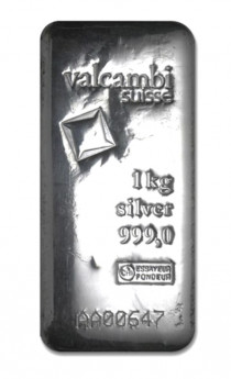 Buy 1 kilo Silver Valcambi Bar - .999 Fine online from Indigo