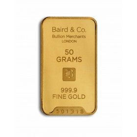Gold Minted Bar - 50 grams, 99.99% Purity
