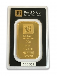 Buy 50g gold bar ARGOR & Baird Minted bar