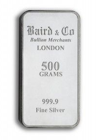 Baird Silver Investment bar 500 grams buy online