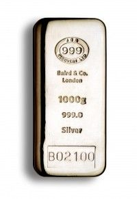 Buy Baird Silver cast bar 1 kilo buy LBMA Good Delivery online