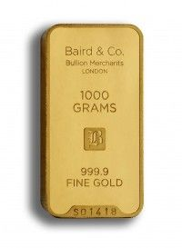 Baird gold investment bar 1000 grams buy online