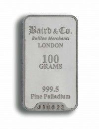 Baird Palladium Investment bar 100 grams buy online