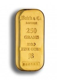 Baird gold cast bar 250 grams buy online