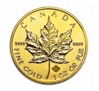 gold maple 1 ounce coin front face buy online