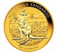 Australia kangaroo gold coin 1 ounce front view buy online