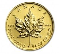 Canada Gold Maple Leaf coin 1/4 oz buy online