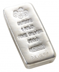Buy 1 kilo Silver PAMP Bar - .999 Fine online from Indigo