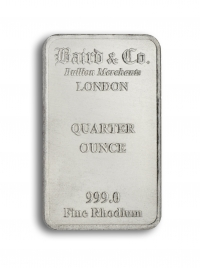 Rhodium bar 1/4 oz buy online with IPM Group