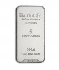 Rhodium bar 5oz buy online with IPM Group
